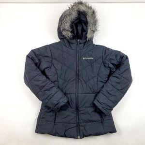Womens Columbia Puffer Coat Size M Fur Trim